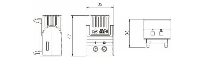 FTS 011 FTO 011 Tamper-proof Thermostat Cabinet Thermostat Enclosure Thermostat connection drawing 2