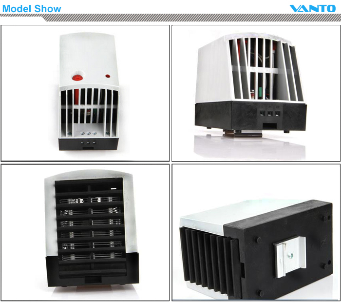 CR 027 PTC Fan Heater Semiconductor Heater Cabinet Heater Enclosure Heater Model Show