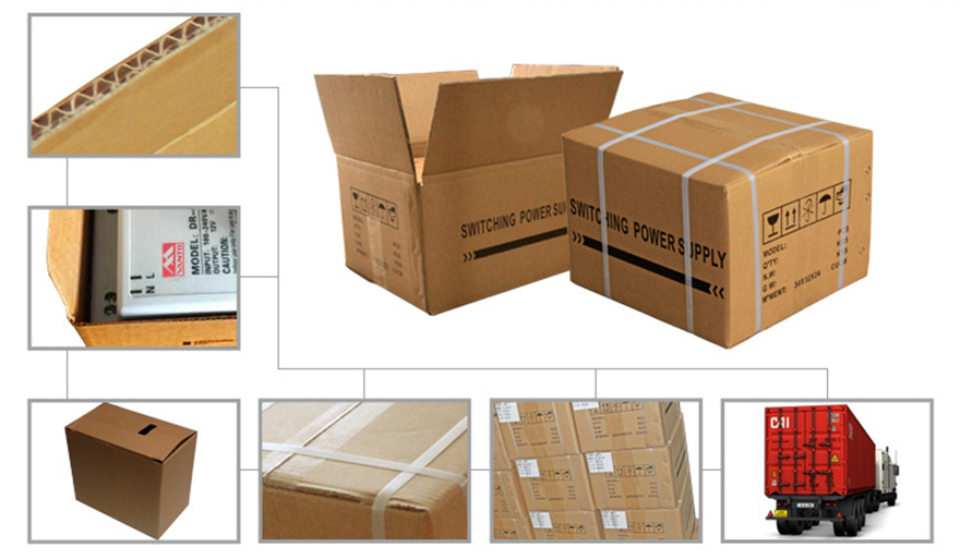 DR 30W 45W 60W Din Rail Power Supply Packing Show